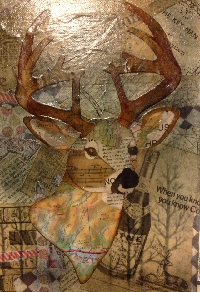 Stag mixed media