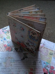 Old childs hard back book, now upcycled