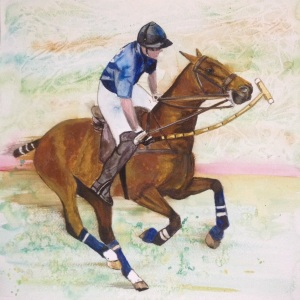 Watercolour polo, I had started this so decided to finish it, really my heart was not in it and I lost interest