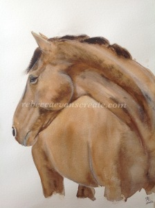 Horse watercolour
