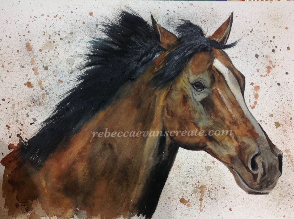 Watercolour horse painting rebecca evans create art