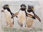 Penguin watercolour painting art