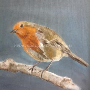 Robin oil painting rebecca evans create art