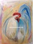 Pastel cock bird
