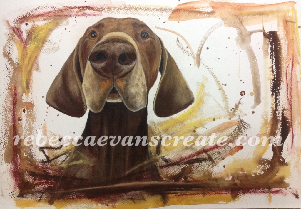 Watercolour and pastel painting rebecca evans create art