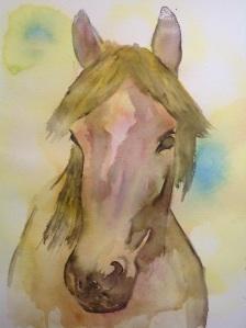Wishy washy watercolour horse