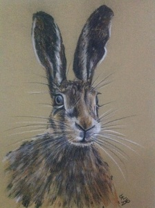 ALERT AND READY willow charcoal and derwent tinted charcoal on daler rowney pastel