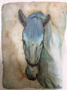 'The rest' watercolour horse