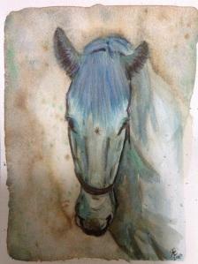 'The rest' watercolour horse