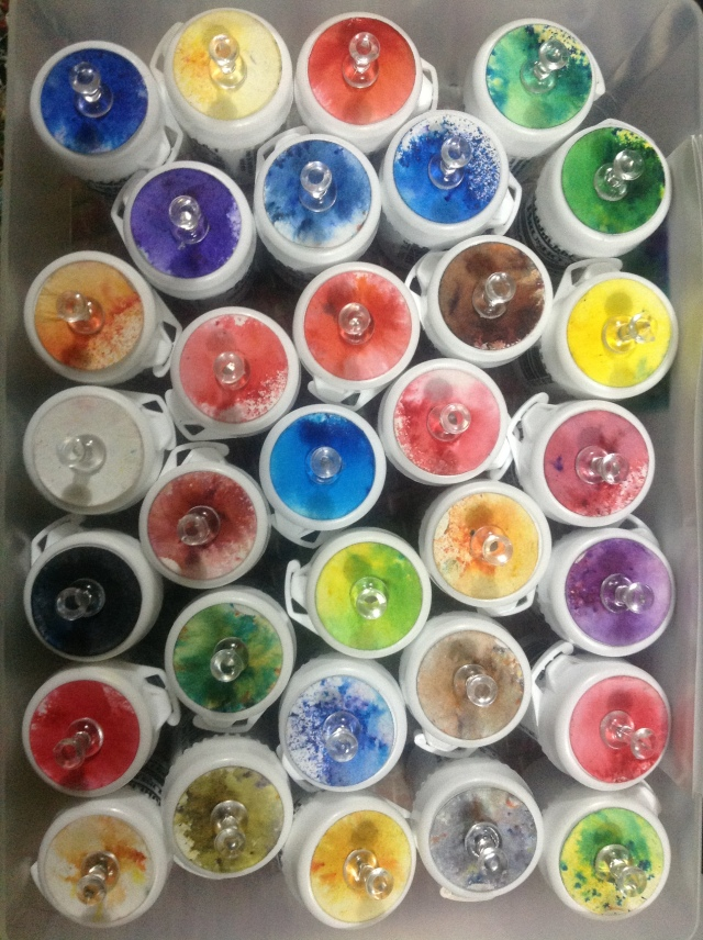 Colourcraft brusho powdered pigment paint for amazing effects, and unconventional colours