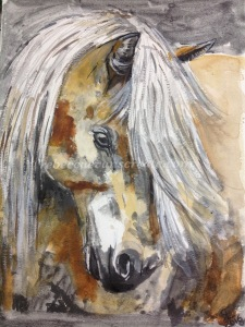 Pony watercolour