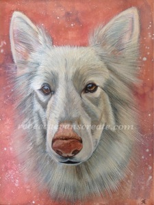 Watercolour dog painting rebecca evans create art
