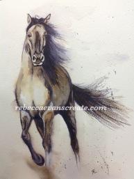 "'Pony power 1' arches cold press 140lb 9x12"" watercolour"