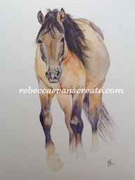 "'Pony power 4' arches cold press 140 lb 9x12"" watercolour"