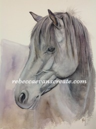 'Lunar' new forest pony mare 200 lb cold press 30x40 cm