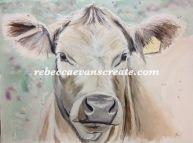 'Holy cow' 30X40 cm 200 lb coldpress watercolour