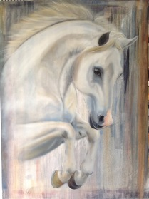 3rd stage work in progress oil painting, now left to dry for next layer in a few weeks