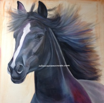 'Betty'oil painting on canvas 90x90