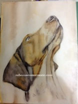 """'Babble' watercolour 9x12""""140lb coldpress 2nd stage"""