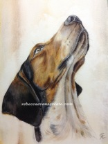 """'Babble' watercolour 9x12""""140lb coldpress 4th stage finished"""