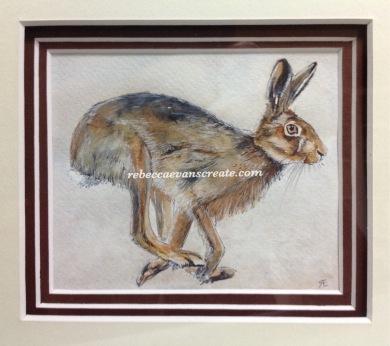 'Hop it' 12cmx14cm watercolour