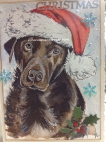 Chocolate Labrador design Christmas 2016