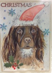 Working cocker spaniel design Christmas 2016