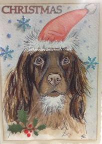 Working cocker spaniel design Christmas 2016