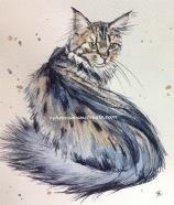 'Diva'12cmx14cm watercolour