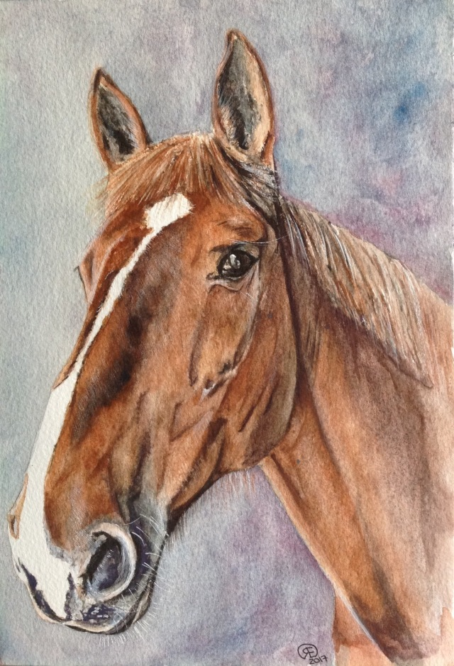 """Ella"" handmade watercolour 10x7"" 140 lb coldpress (fortune centre)"