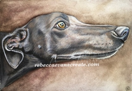 "'Smoker' 10x7"" 140lb coldpress with own hand made watercolour paint"