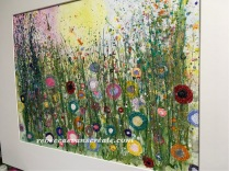 "'Wild fields' watercolour and glitter 20x16"" 140lb coldpress mounted and framed...a bit of wild bling"