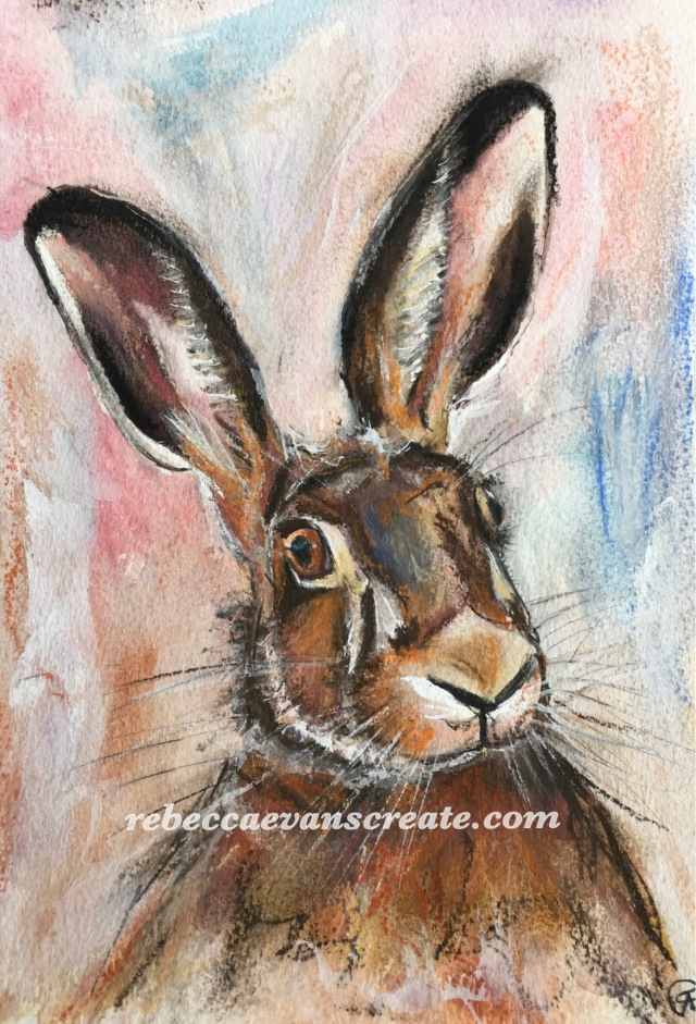 """'Sid' watercolour and pastel 7x10"""" 140lb coldpress"""