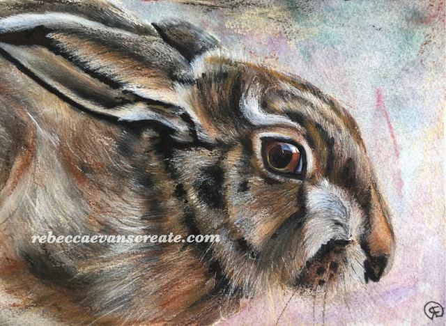 """'Sitting waiting' watercolour and pastel 7x10"""" 140lb coldpress"""