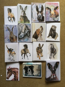 A selection of greetings cards available