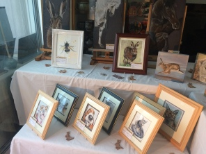 All set up for Hampshire open studio