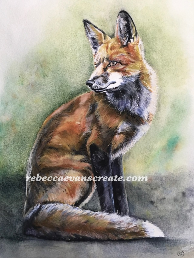"'Proud' watercolour 12x9"" 140lb coldpress"