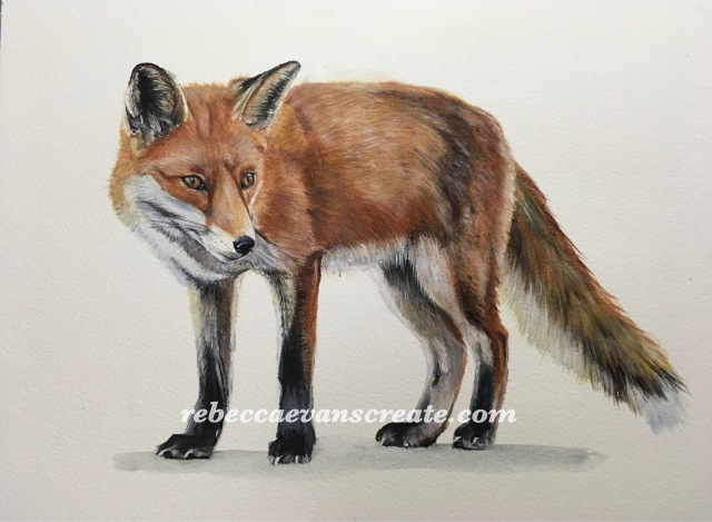 "'Dutiful' watercolour on 12x9"" 140lb coldpress"