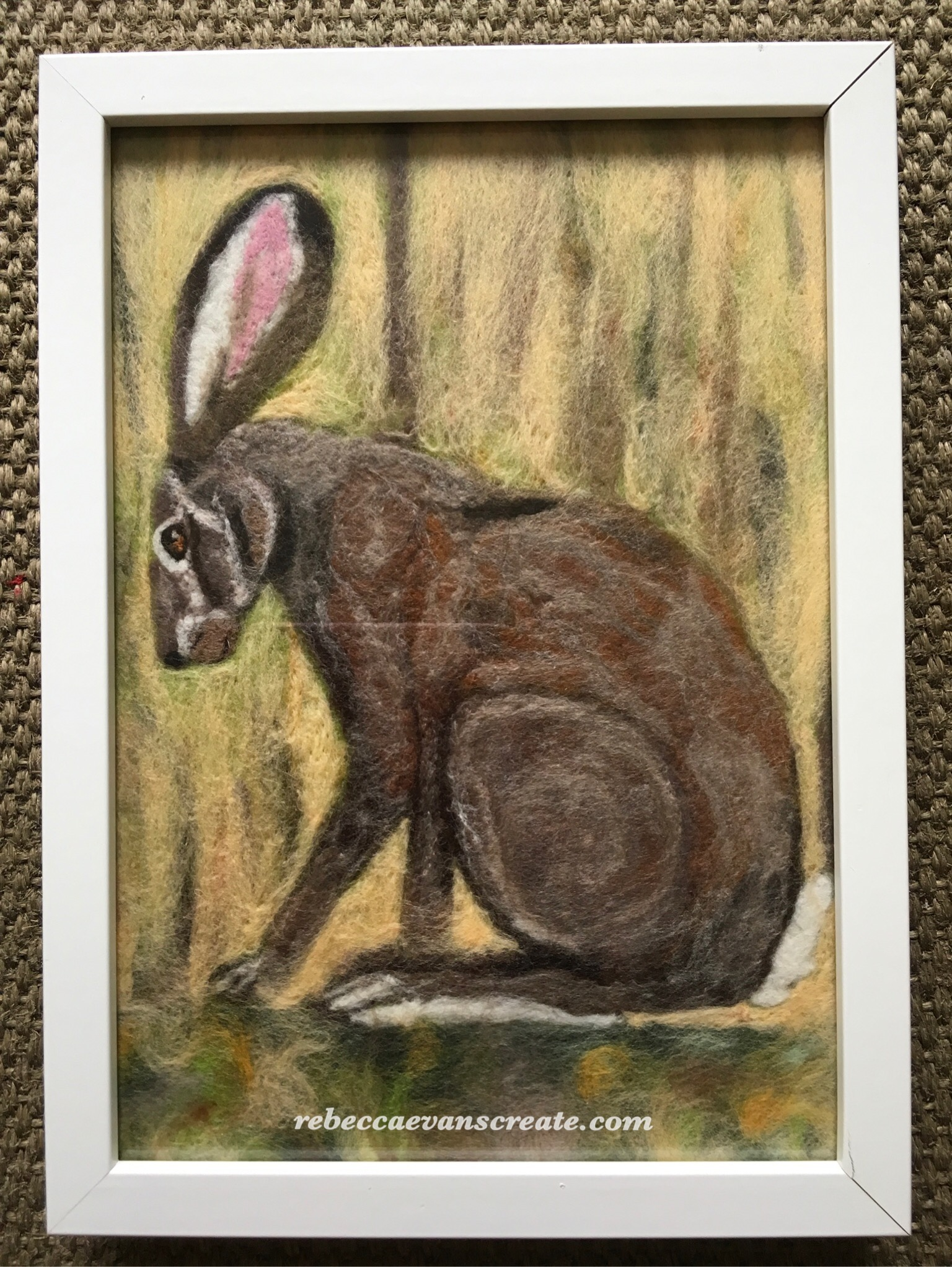 A bit of fun with felt while sat at the exhibition...my first time at a felted picture