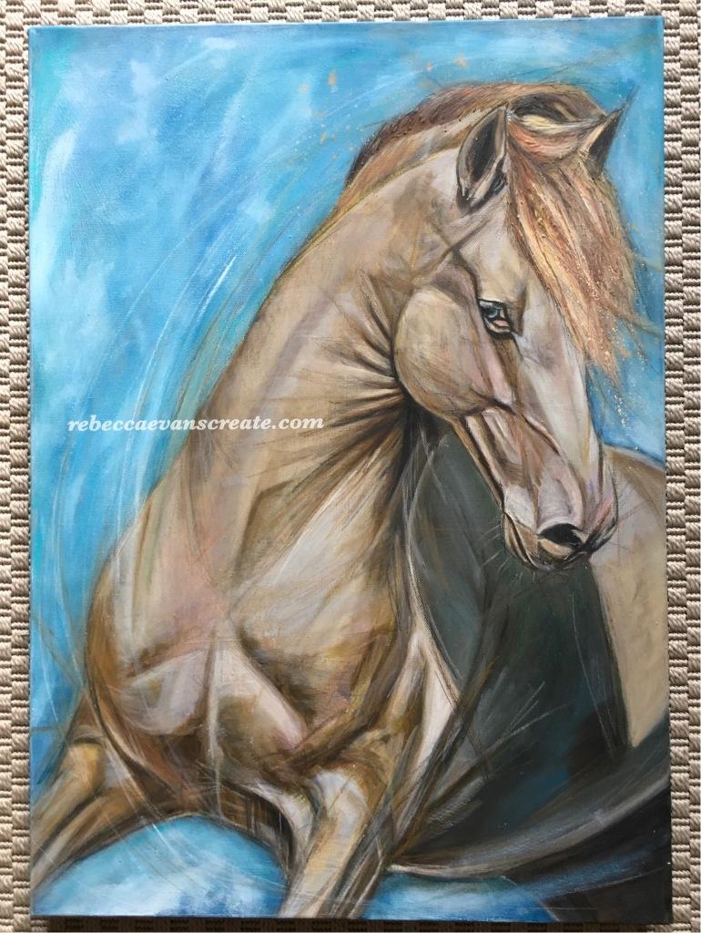 'Wild blue yonder' oil on canvas
